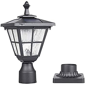 Gama Sonic GS-113F Flora Lamp Outdoor Solar Light Fixture 3 inches Brown 3 Post-Fitter Mount