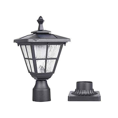 Kemeco ST4325Q Post Solar Light Cast Aluminum LED Lamp Fixture with 3-Inch Fitter Base for Outdoor Garden Post Pole Mount Landscape Yard (3 Light Post Lamp)