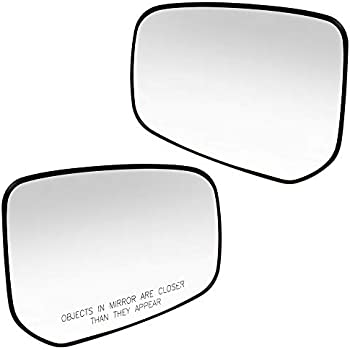 Brock Drivers Side Mirror Glass /& Base for 14-18 Mitsubishi Mirage 17-18 Mirage G4 Heated replaces 7632B601