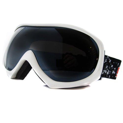 Ski Flash White 54044 lentilles Mirror Bluff Dog Shiny 54044 avec Dirty Skibrille Grey Skibrille 7q8wfWB