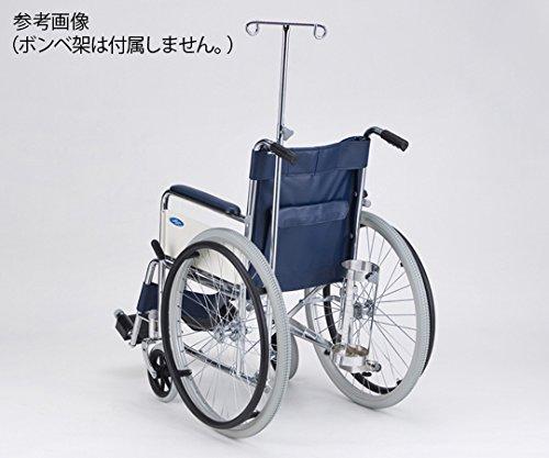 日進医療器8-4573-03車椅子(自走式/スチール製/エアータイヤ/伸縮式ガードル棒付き) B07BD2RDXT