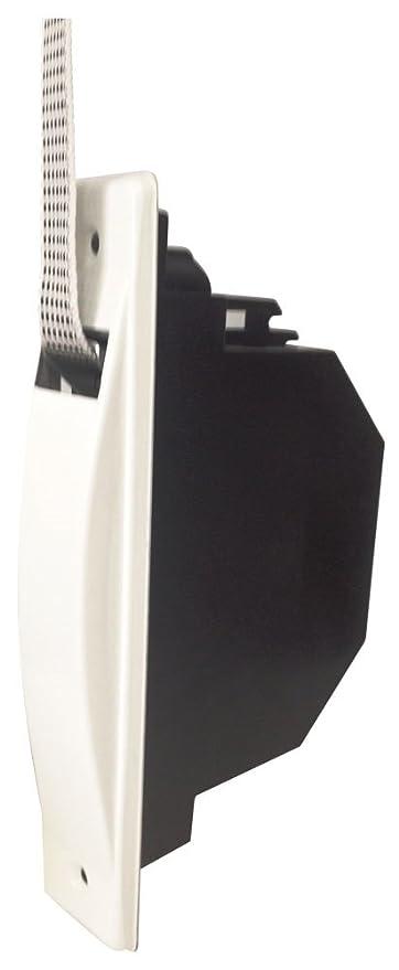 IUNCI 040.008 Recogedor persiana universal C/20, color blanco con placa aluminio atornillada.