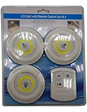 مجموعة مصابيح LED بجهاز تحكم عن بعد من 3 قطع