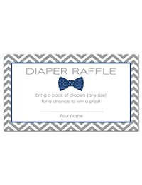 48 Bow Tie Baby Shower Raffle Cards (Navy) BOBEBE Online Baby Store From New York to Miami and Los Angeles