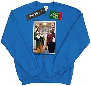 Elf Herren OMG Santa Photo Sweatshirt Königsblau Large