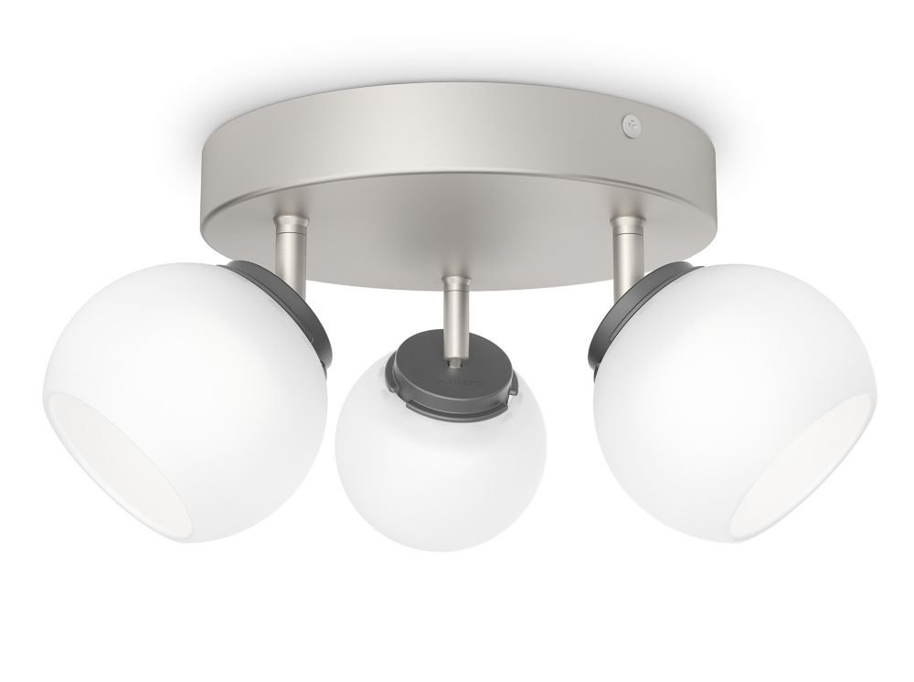Philips myLiving Balla LED Spot Plate/Spiral Light (3 x 4 W Integrated LED, 230 V) - Nickel [Energy Class A+] 915004936401