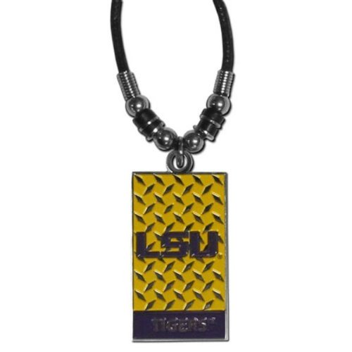 Lsu Tigers Game Day Earrings - NCAA LSU Tigers Diamond Plate Rope Necklace, 20-Inch