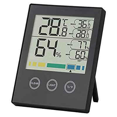 Grow Tent Digital Hygrometer Indoor Gardening & Hydroponics Thermometer Humidity Monitor with Temperature Backlight Humidity Gauge