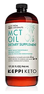 Keppi Keto MCT Oil 32 oz Non GMO Dietary Supplement Made From 100% Coconuts Real Coconut Oil Supports Weight Maintenance and My Toniq for Metabolism Function 30 day 100% Money back Guarentee