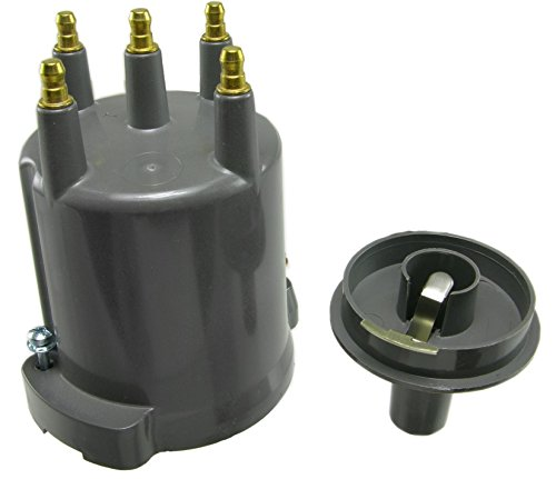 Jeep Distributor 1986 Wagoneer - WVE by NTK 3D1016A Distributor Cap and Rotor Kit