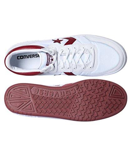 Converse, Sneaker Chaussure Sport pour Homme. Taille 42 EU. Couleur: Blanc e Rouge.