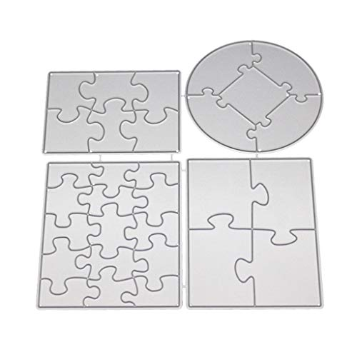 (Herocome Puzzle Cutting Dies Cut Metal Stencils For DIY Scrapbooking Photo Album Decorative Embossing DIY Paper Card Craft)