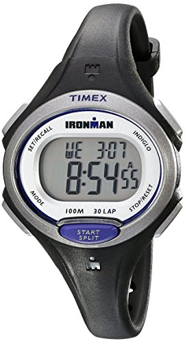 Timex Women's Ironman Essential | Black Mid-Size 30-Lap Memory Sport - Memory Timex