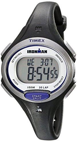 - Timex Women's Ironman Essential | Black Mid-Size 30-Lap Memory Sport TW5K90000