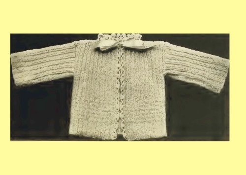 Infant's Knitted Sacque -Columbia No. 3 [Annotated] (Columbia Infant Hat And Mittens)