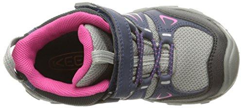Keen Oakridge Mid Wp, Zapatos de High Rise Senderismo Unisex Niños Varios Colores (Dress Blues/Very Berry)