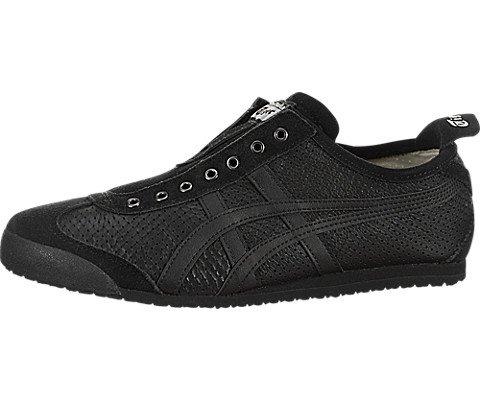 Onitsuka Tiger Unisex Mexico 66 Slip-On Shoes D815L, Black/Black, 5 M US ()