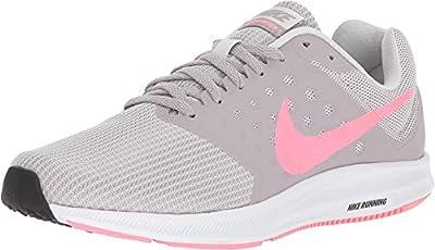 Nike Women's Downshifter 7 Vast Grey/Sunset Pulse Ankle-High Running Shoe - 9M