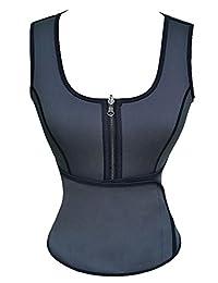 Panegy Women Neoprene Shirts Sauna Suits Tank Top with Adjustable Waist Trimmer Belt