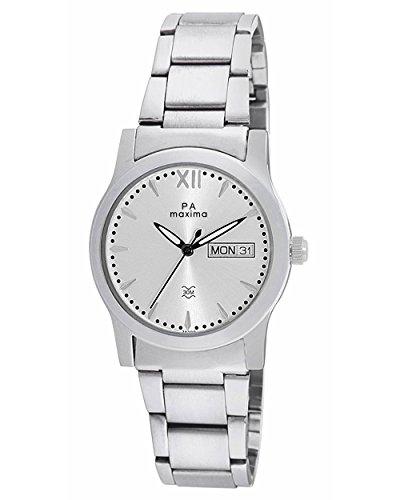 Maxima Analog Silver Dial Women's Watch – 38300CMLI