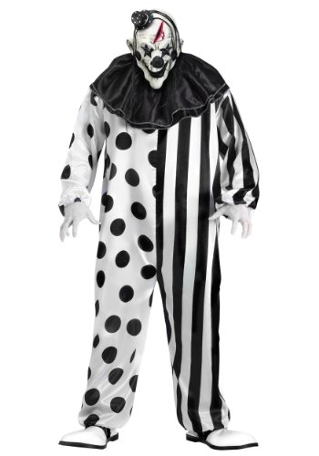 Fun World Unisex-Adult's Plsz Killer Clown Cstm, Multi, Plus -