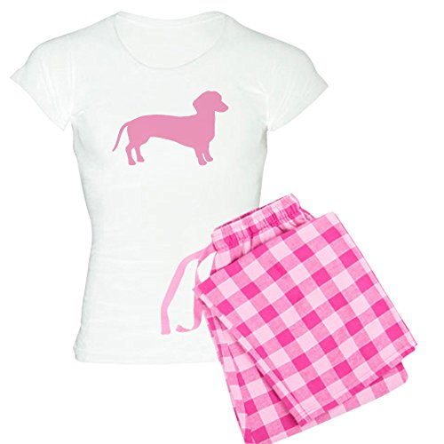 (CafePress Pink Dachshund Dog Women's Light Pajamas Womens Novelty Cotton Pajama Set, Comfortable PJ Sleepwear)