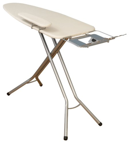 Household Essentials 671840 Mega Wide Top Pressing Station Ironing Board, Satin Silver by Household Essentials