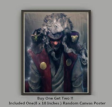 QG Art The Legend of Master Gama Ninja Jiraiya Japanese Anime Canvas Art Prints Wall Poster,No Frame