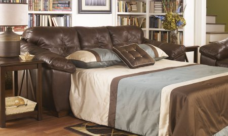 Ashley San Lucas 8370239 Queen Sofa Sleeper with Pillow Top Arms Innerspring Mattress and 3 Loose Seat Cushions in