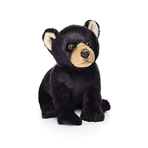 (Crawling Small Black Bear Midnight and Brown Children's Plush Stuffed Animal)