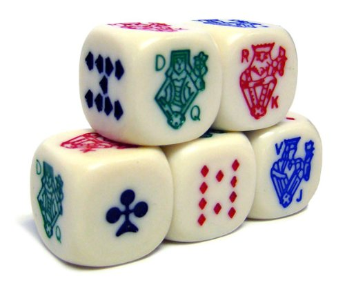 Brybelly Holdings ACP-0064 Poker Dice Pack - 5 Dice by Casino Supplies