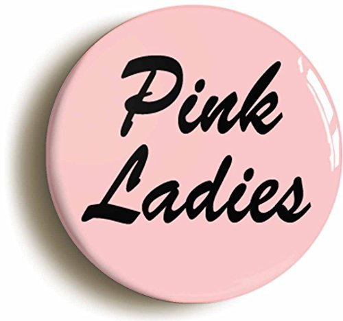 Ideas Costume Party Grease (Pink Ladies Fifties Button Pin (Size is 1inch diameter))