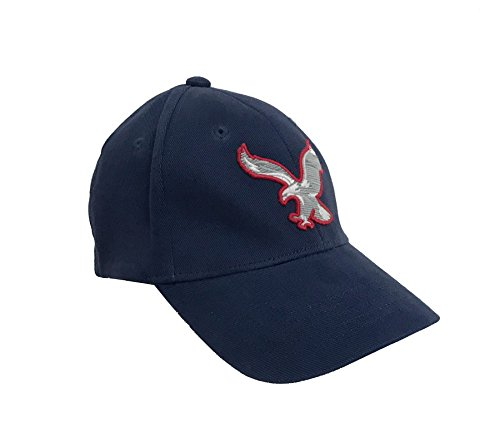 American Eagle Baseball Hat (American Eagle Outfitters Navy w/ Red & White Eagle Baseball Cap L/XL)