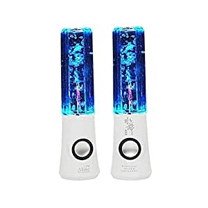 Lightahead New ATake Third generation Colorful Diamond Water Dancing Speaker Enhanced quality & features 2 in1 USB with Volume & other Controls LED Lamp (White) Marketed by Lightahead
