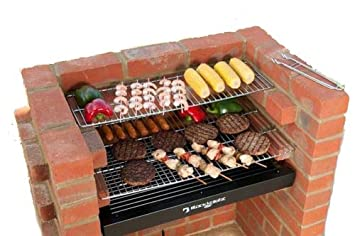 BKB413 BARBACOA DE LADRILLOS KIT DE ACERO INOXIDABLE BARBACOA PARRILLA KIT + PARA CALENTAR