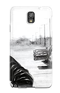 New Snap-on EuniceSchwab Skin Case Cover Compatible With Galaxy Note 3- The Crow