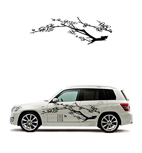 Blossom Seals (A beautiful plum blossoms in design! Car door sticker! Safety seals (left and right SET) even for rental shops)
