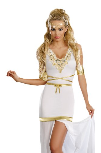[Dreamgirl Goddess Of Love Aphrodite, White, Extra Large] (Aphrodite Costume)