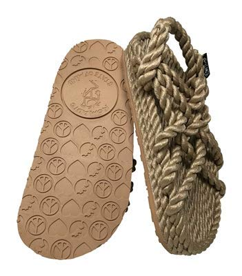 New Nomadic State of Mind JC Sandal with Sole – All-Rope Six Cross Strap - Handmade Adjustable Rope Shoes – Machine Washable – Vegan Friendly – Secure Fitting, Long Lasting & Comfortable Feel – for Men & Women