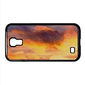 Orange Clouds Watercolor style Cover Samsung Galaxy S4 I9500 Case (Sun & Sky Watercolor style Cover Samsung Galaxy S4 I9500 Case)