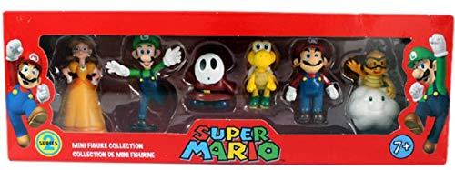 SUPER Mario 3 PZ Set bros Mario Yoshi Luigi PVC Action figure da collezione modello