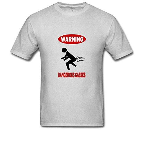 Dangerous Gasses Men's Simple T Shirt L Gray ()