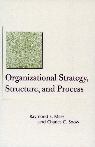 amazon com organizational strategy, structure, and processorganizational strategy, structure, and process (stanford business books) by [snow,