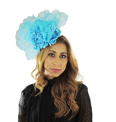 Hats By Cressida Ladies Kentucky Derby Ascot Wedding Fascinator Hat Flower Turquoise by Hats By Cressida