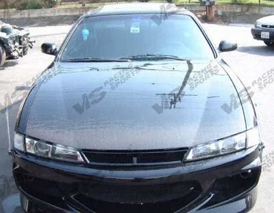 VIS Racing 97-98 Nissan 240SX OEM Carbon Fiber Hood (97NS2402DOE-010C) 240sx Hood