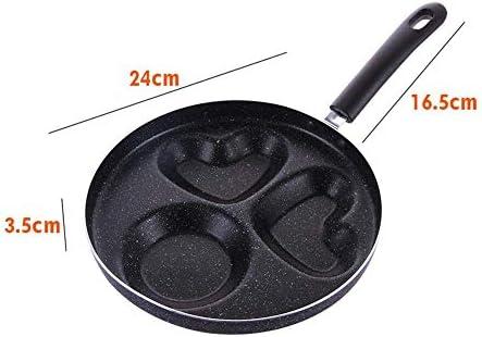 POÊLON 3 trous de cuisine Poêle anti-adhésif résistant à la chaleur Omelette Anti Slip Non Couvercle Restaurant Petit déjeuner Camping Barbecue Accueil Cuisine ZHW345