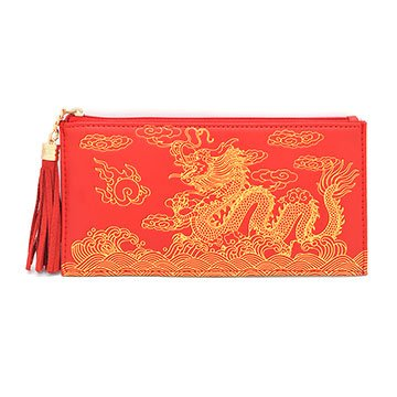 2016 Year of the Monkey Chines Feng Shui :ドラゴン財布(レッド) B019I0B4XY