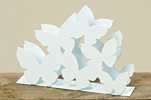 Serviettenhalter Schmetterlinge aus Metall weiss Tischdekoration Sommer