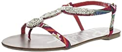 Rebels Women's Genesis1 Flat,Red Multi,6.5 M US