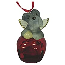 StealStreet SS-D-BL020-A Cute Christmas Holiday Schnauzer Dog Ornament Bell Figurine, Red